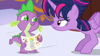 "Spike acting nervous ""yup"" S5E3"