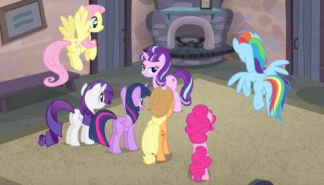 "File:Starlight Glimmer ""what's so unique about our village"" S5E1.png"