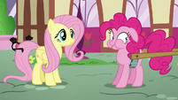 Pinkie strongly restrains herself from saying any more S5E19