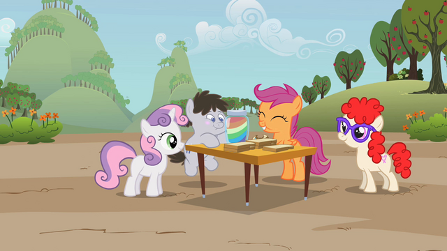 File:Scootaloo enjoying a zap apple jam sandwich S2E12.png
