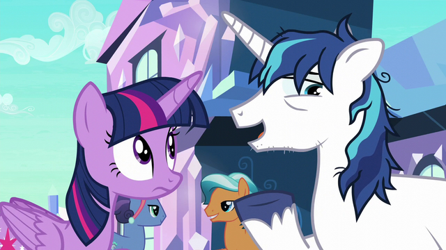 "File:Shining Armor ""would be great to get a break"" S6E1.png"