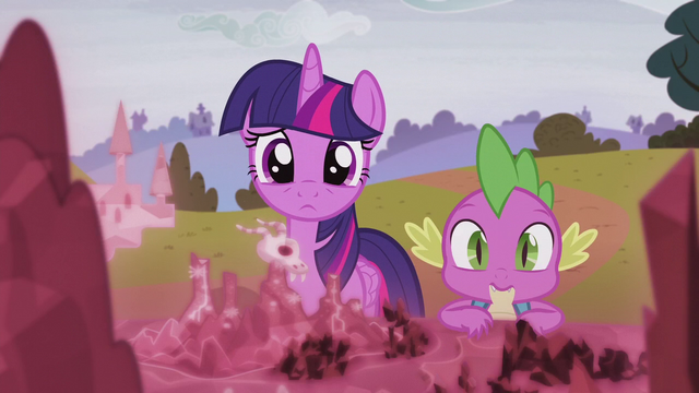 File:Twilight and Spike looking at the map S5E25.png