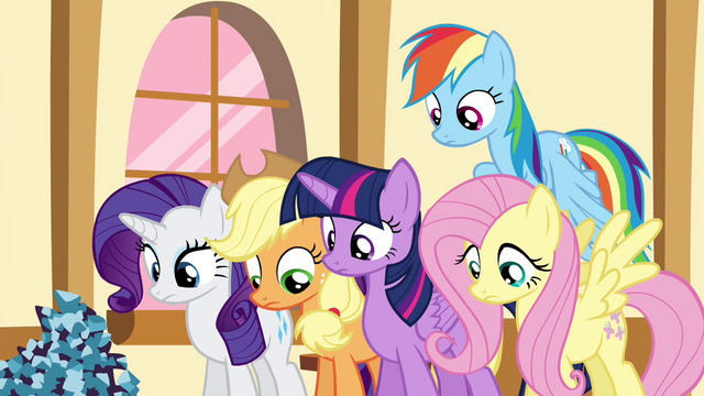 File:Pinkie Pie's friends look down S4E18.png