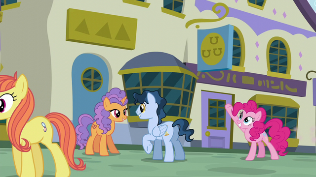 File:Pinkie Pie pointing to a restaurant S6E12.png
