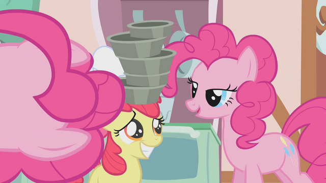 File:Pinkie Pie straightens pans for Apple Bloom S1E12.png