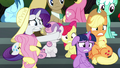 Crowd of ponies in shock S6E7.png