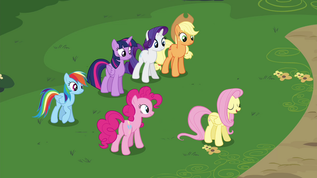 File:Fluttershy directing her friends S4E16.png