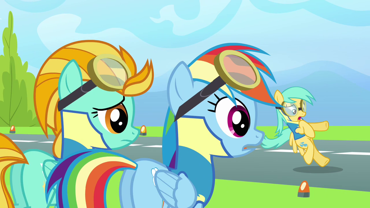 Image  Rainbow and Lightning sees Raindrops S3E07png  My Little Pony Frien # Sunshower Pony_154015