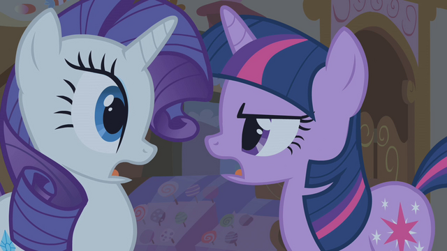 "File:Twilight and Rarity ""what she was born with"" S1E09.png"