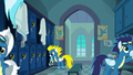 Wonderbolts in the locker room S6E7.png