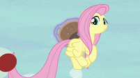 Fluttershy flings the ball at high speed S6E18