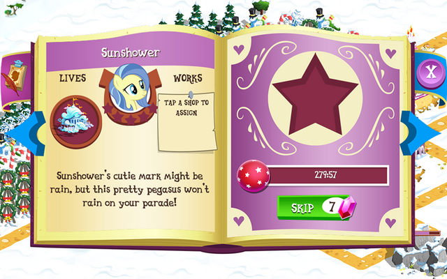 File:Sunshower album page MLP mobile game.png