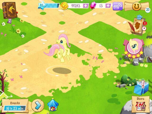 File:Fluttershy idle MLP mobile game.jpg