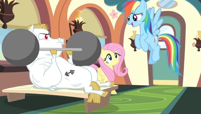 "File:Rainbow Dash ""with the possible exception of"" S4E24.png"