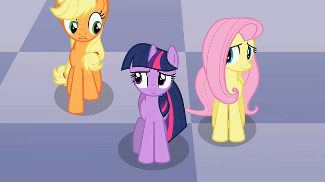File:Applejack, Twilight and Fluttershy discussing Discord's riddle S2E1.png