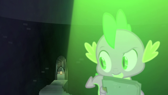 File:Backward shot of the hidden staircase at the Castle of the Royal Pony Sisters, S4E23.png
