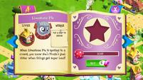 Limestone Pie album page MLP mobile game