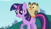 Owlowiscious mounted on Twilight S2E7