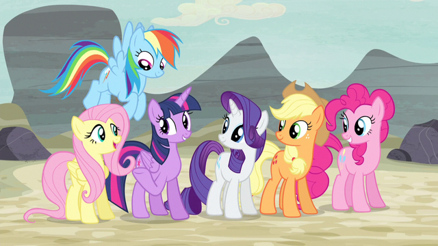 """File:Twilight and friends """"it sent US"""" S5E2.png"""