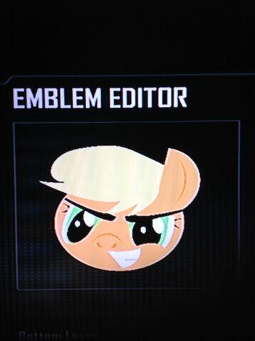 File:FANMADE Applejack Black Ops 2 Emblem.jpg