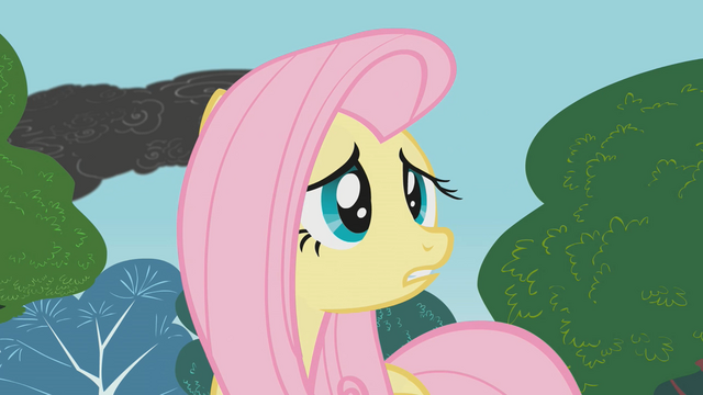 File:Fluttershy tries to warn everypony S1E7.png