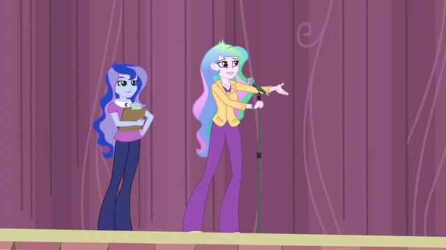 "File:Principal Celestia ""I'm sure you're all curious"" EG3.png"