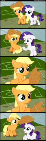 File:FANMADE Applejack and Rarity as fillies.png