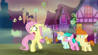 Fluttershy screaming at foals S5E21