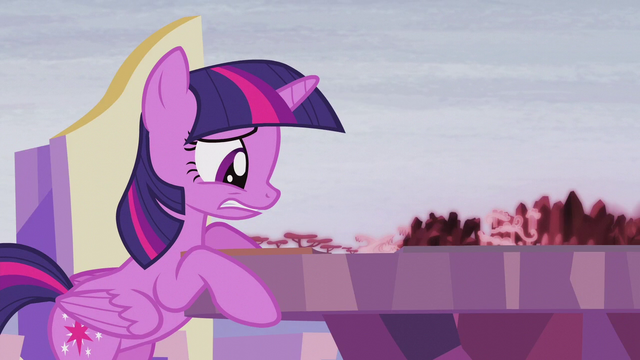 File:Twilight looking at the Cutie Map worried S5E25.png