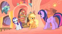 Applejack telling a ghost story S1E08