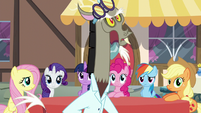 Discord wearing a lab coat S5E22