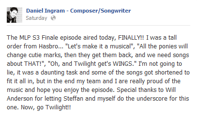 File:Magical Mystery Cure Daniel Ingram Facebook comment S3E13.png