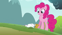 Mouse running up to Pinkie clone S3E3