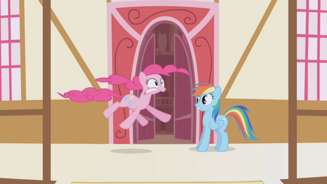 File:Rainbow Dash and hiccuping Pinkie Pie S1E5.png