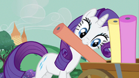 Rarity putting rolls of cloth S3E8