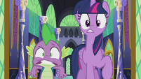 Twilight and Spike in surprise S5E25