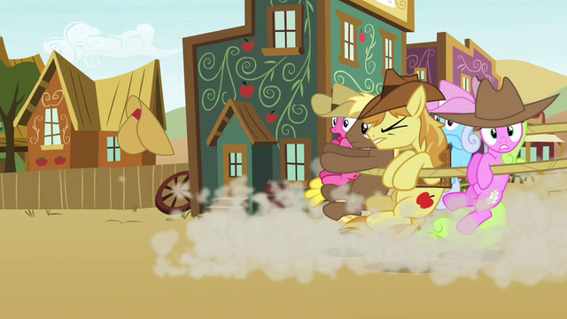 File:Earth ponies caught by a lasso S4E25.png