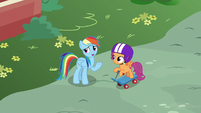 "Rainbow ""one of the real Wonderbolts can't fly"" S6E7"