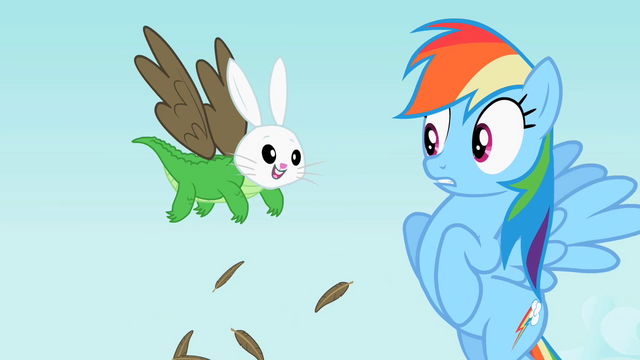 File:Rainbow Dash seeing Angel-Gummy-Owlowiscious S2E7.png