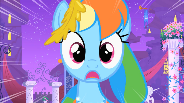 File:Rainbow Dash sees Soarin's falling pie S1E26.png