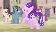 Starlight marching through the village S5E1