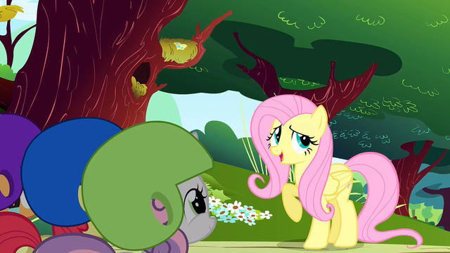 File:Fluttershy begins her story S1E23.png