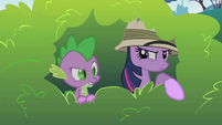 Twilight spies on Pinkie Pie S1E15