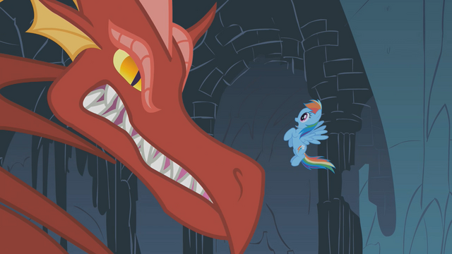 File:Dragon growls at Rainbow Dash S01E07.png