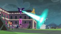 Midnight Sparkle destroying the Wondercolt statue EG3