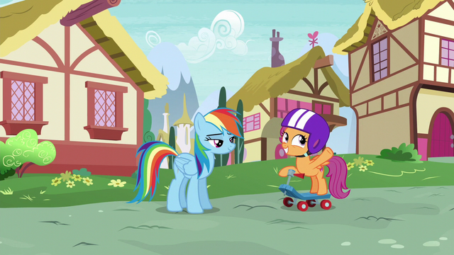 "File:Scootaloo ""when the Wonderbolts' new tour"" S6E7.png"
