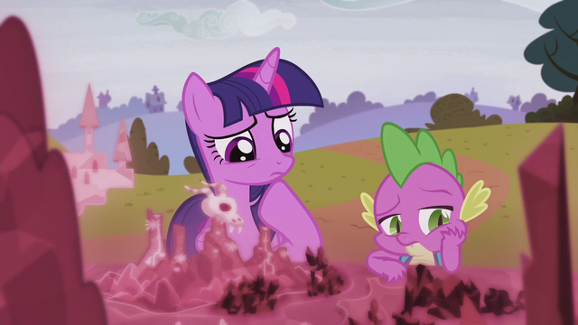 File:Twilight and Spike in deep thought S5E25.png