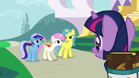 Twinkleshine mentions Moon Dancer's get-together S5E12