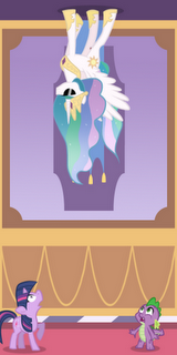File:FANMADE Celestia walking on the ceiling.png
