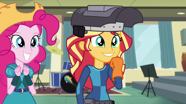 "File:Pinkie and Sunset thrilled to see ""Twilight"" EG3.png"